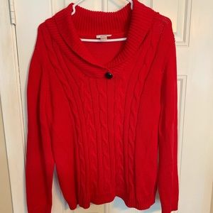 Christopher & Banks True Red Sweater XL